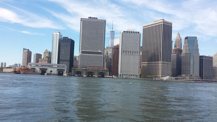 view of manhattan from east river