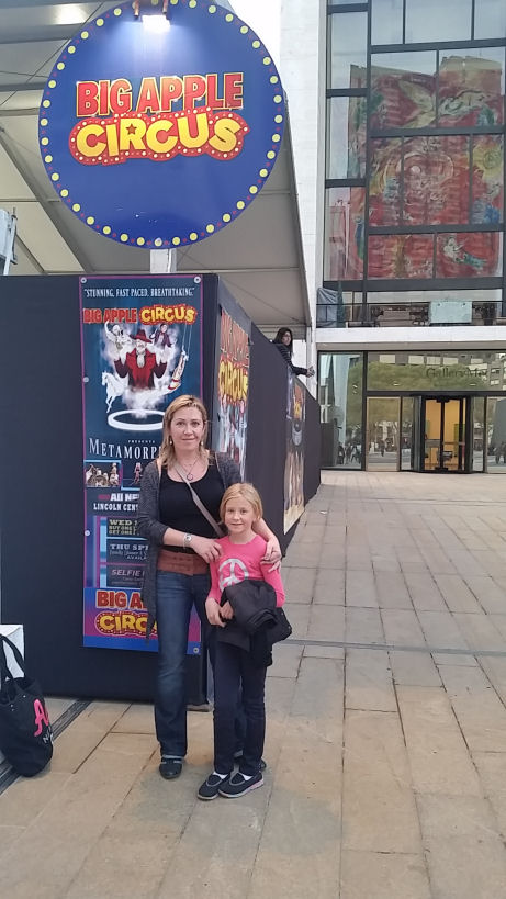 in front of big apple circus