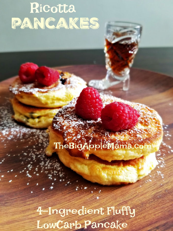 Ingredient fluffy low-carb ricotta pancakes - The Big Apple Mama